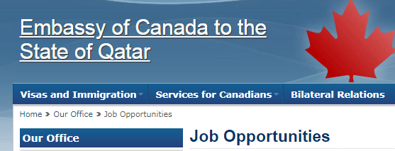 Canadian Embassy Qatar Jobs